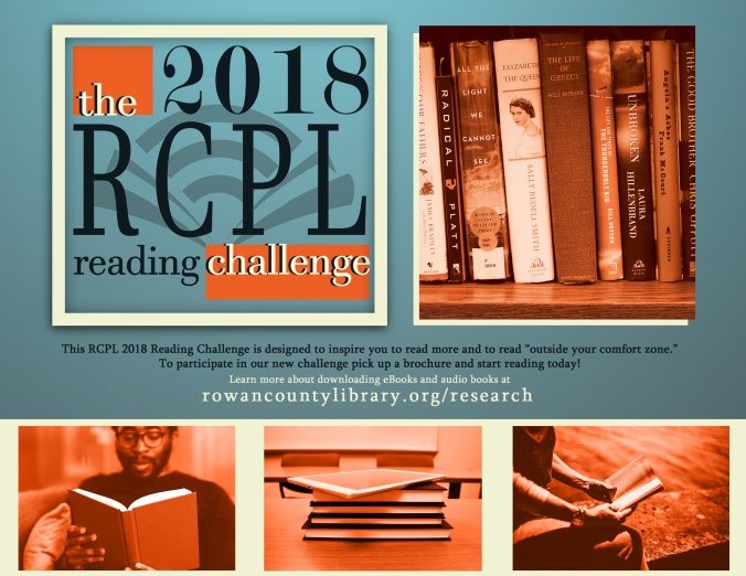 2018 RCPL Reading Challenge lobby display