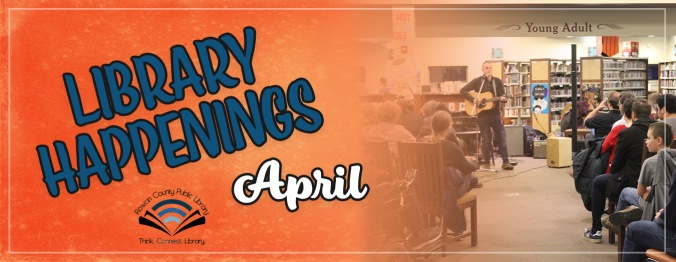 Library Happenings Banner April