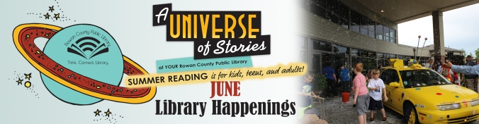 Library Happenings June Banner