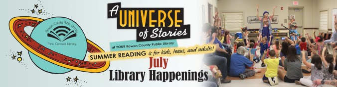 Library Happenings July Banner