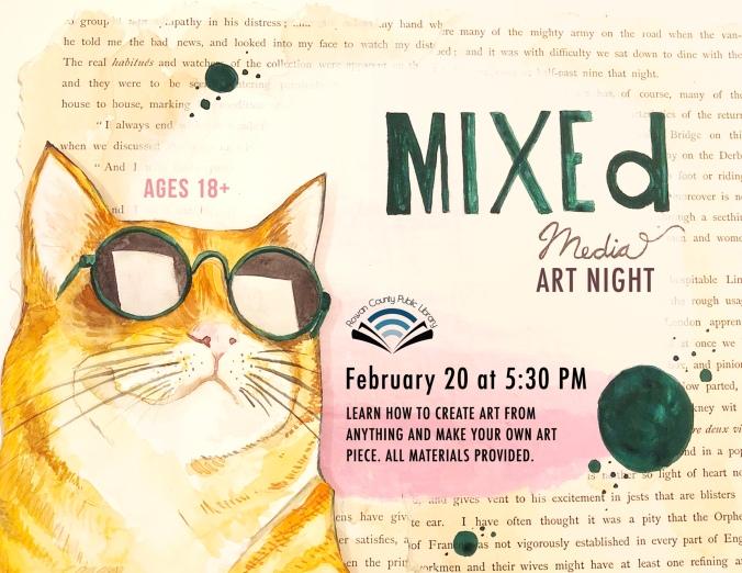 Mixed Media Night Flyer