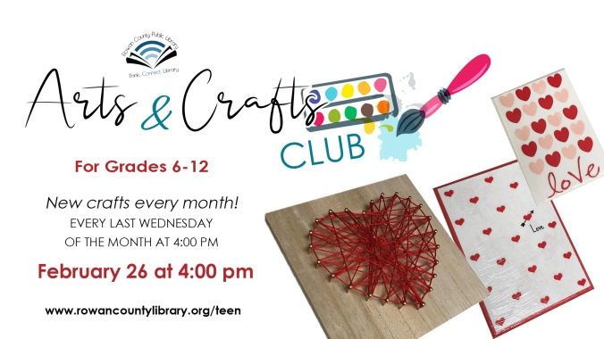 Teen Art Club Feb